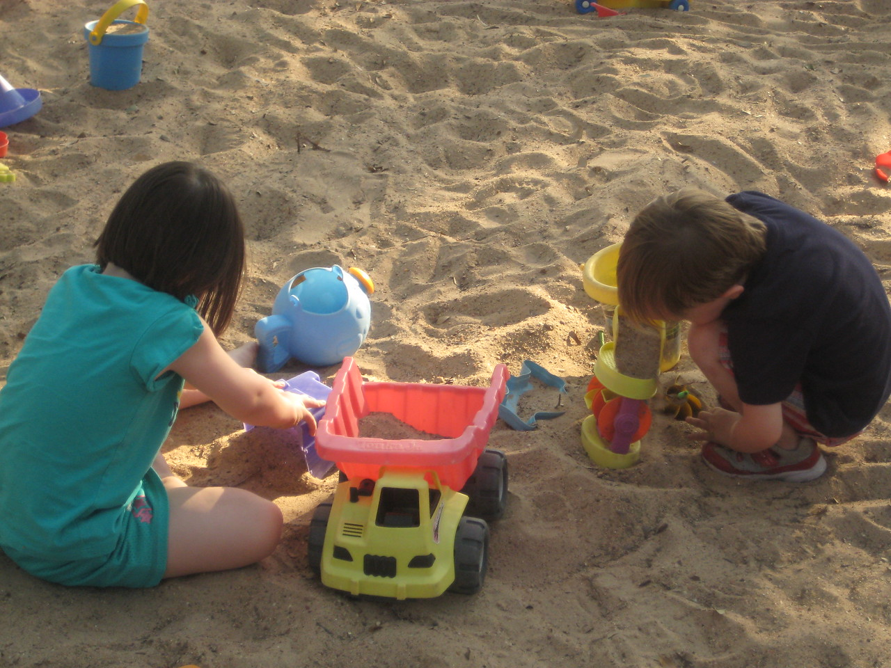 Stella and Henry playing hard