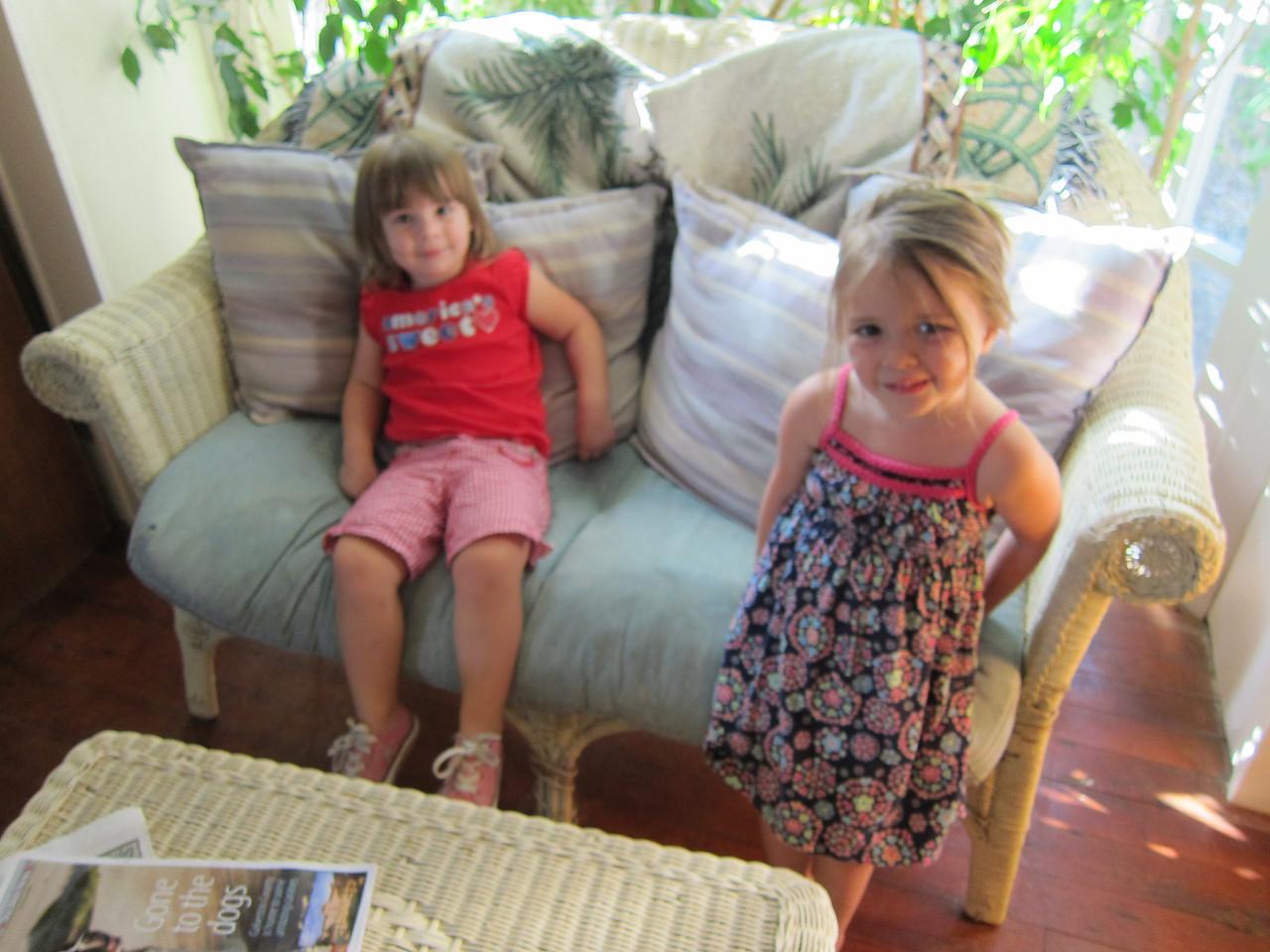 Before dinner at the Larson's beach house