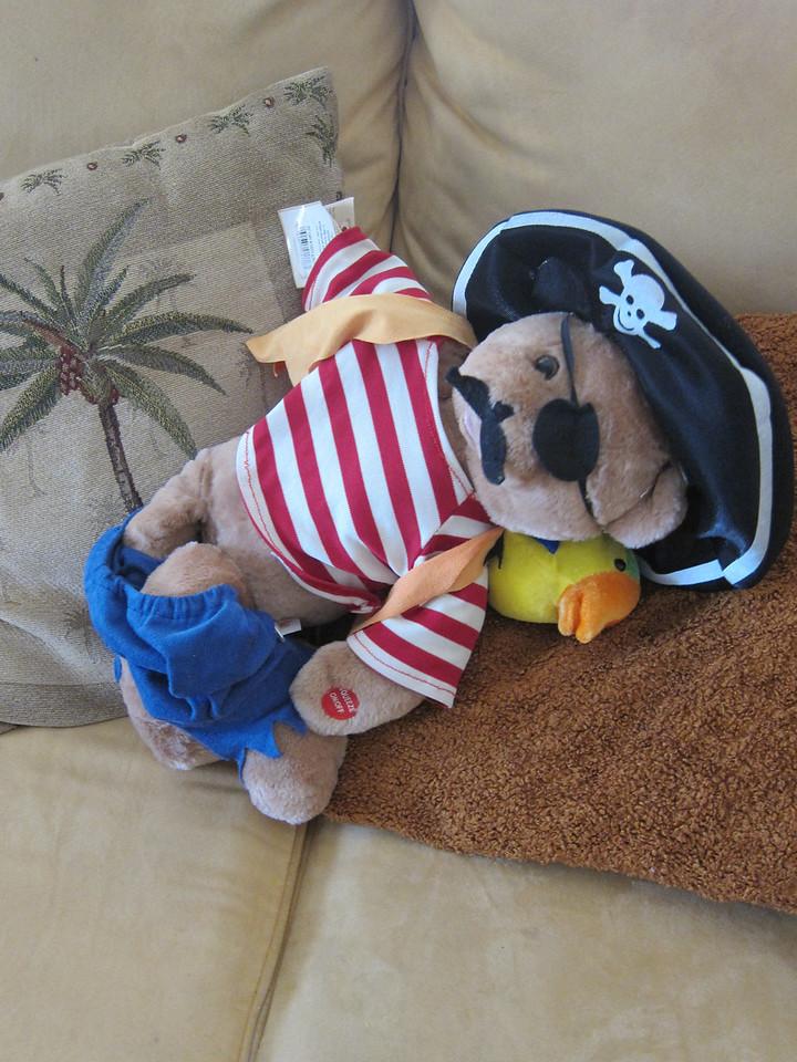 The kids had pantsed the talking Pirate teddy bear