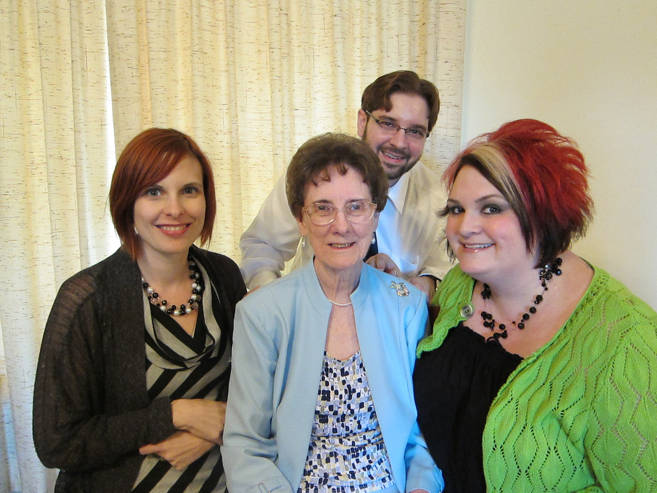 Mama and the grandchildren:  Julie, Keith and Stephanie