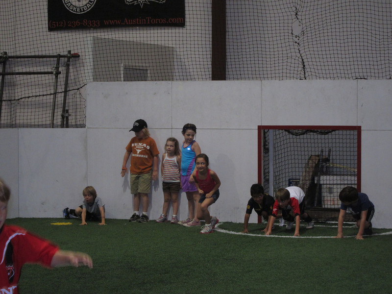 Soccer at Milo's birthday party