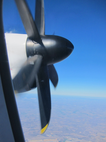 Our plane from Austin to Houston actually had propellers!