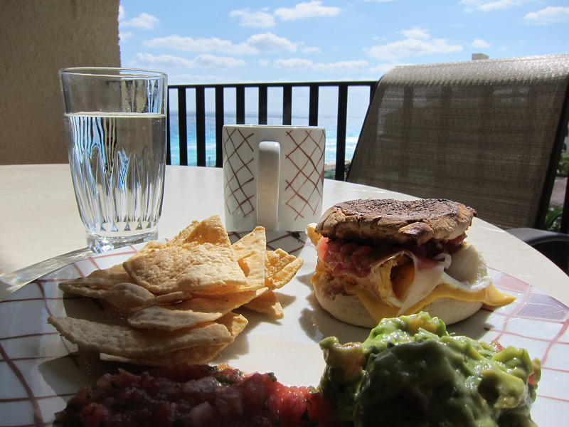 Breakfast in Cancun.  So delicious and so beautiful!