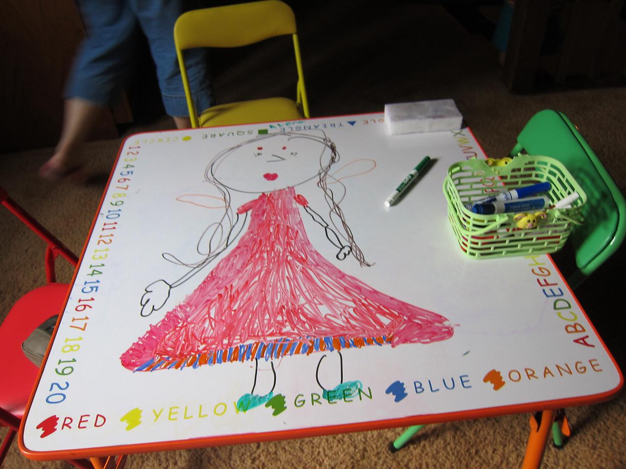 Stella's dry erase masterpiece