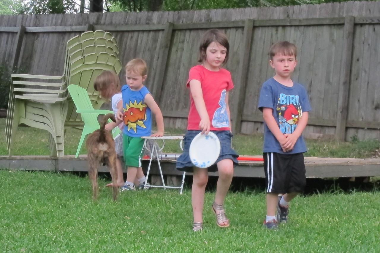 Kids run amok at Tim's birthday party