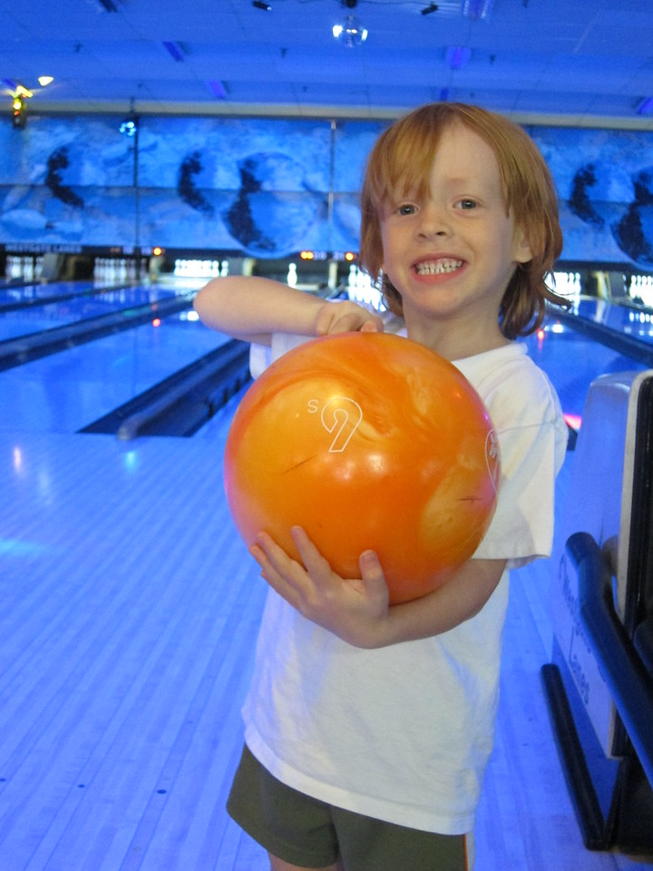 Oscar also is a bowling wiz