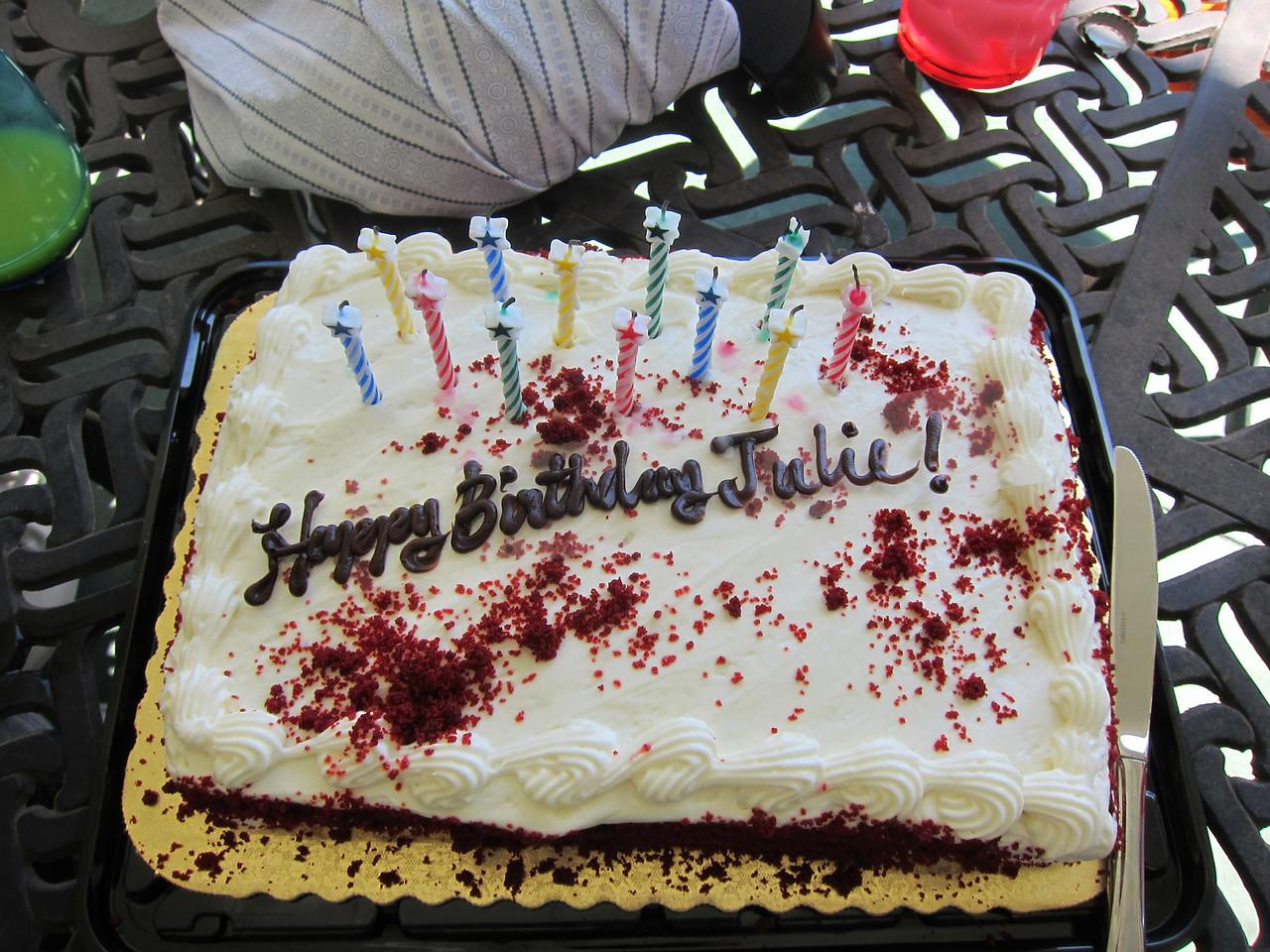 My cake!  Thanks Renee and Amanda!