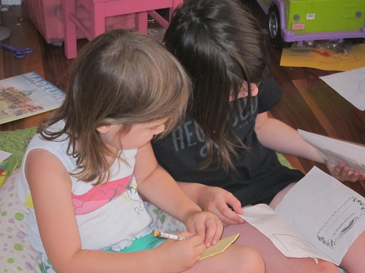 """Stella teaches Etta while Etta takes """"notes"""""""