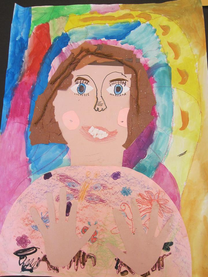 Stella's self-portrait from school
