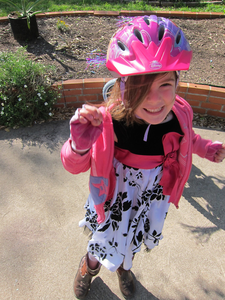 Etta is THIS excited about her new bike!