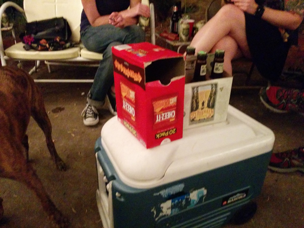Cheez-It's and Beer:  the late night snack of champions