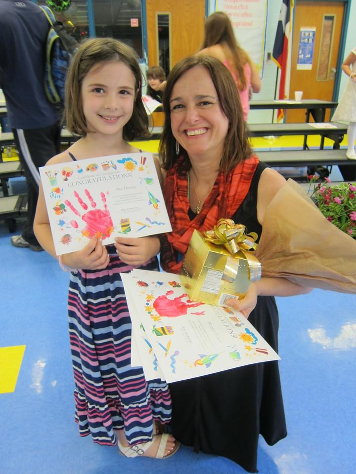Etta with the best Kindergarten teacher ever!