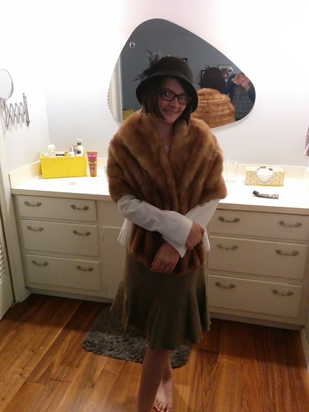 Stella in her Annie Costume