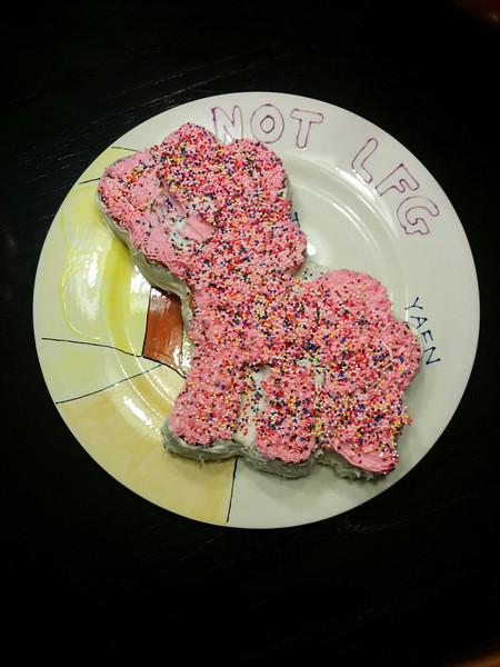 Adorable pony cake, courtesy of Beth