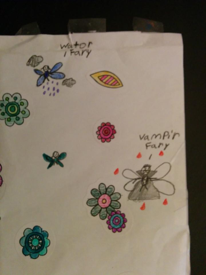SAvannah's card had some creative fairies
