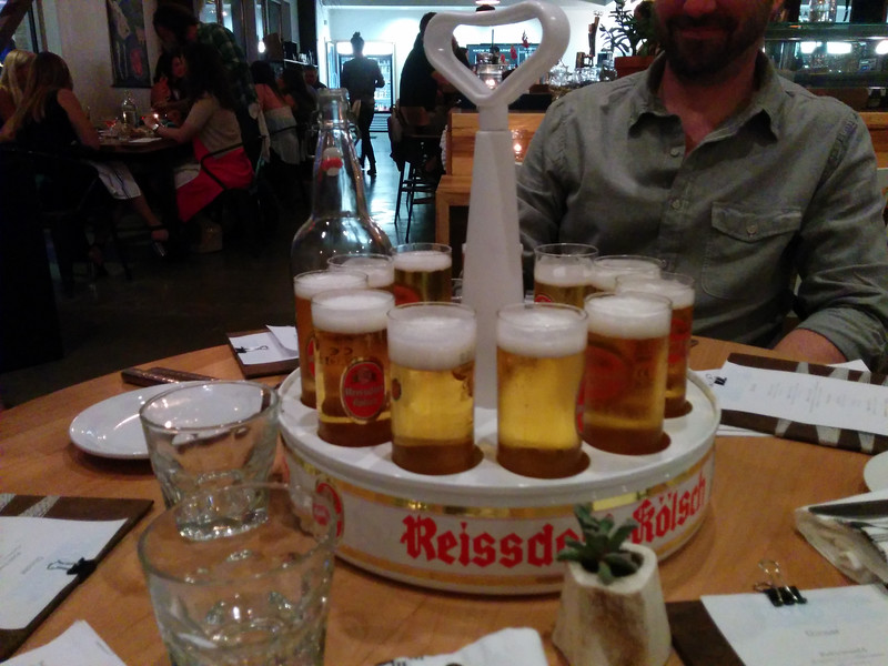 Super cool beer tray.  The best thing about Salt and Thyme