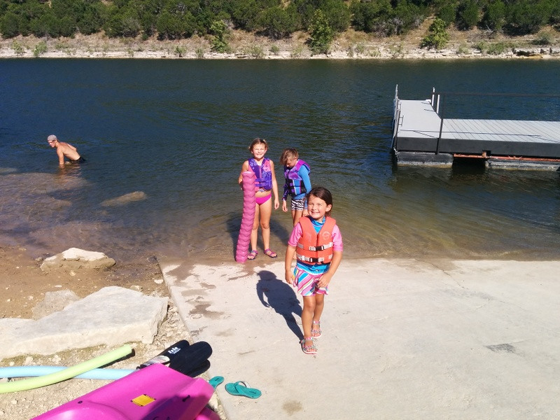 Lake fun with Girl Scouts