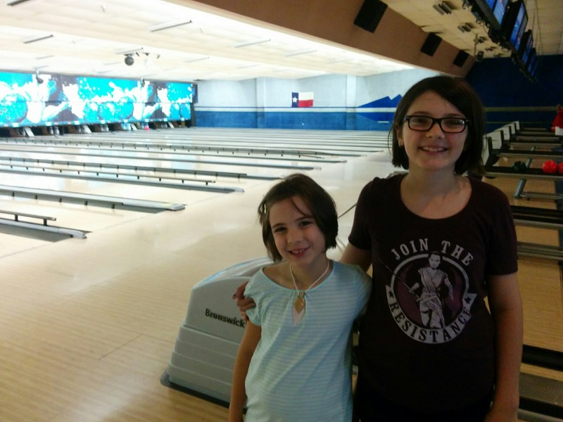 Fun bowling on the last day of summer