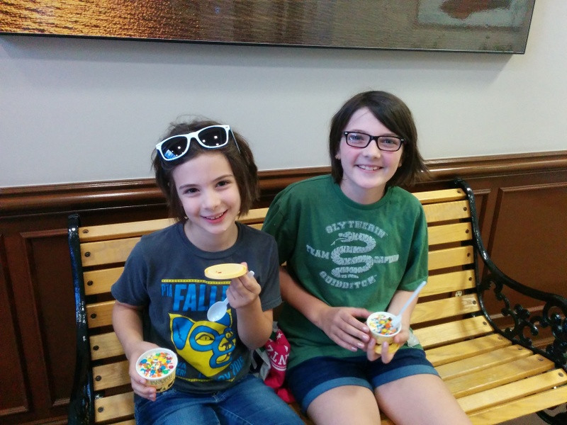 Stella's orthodontist gives ICE CREAM after your visit.