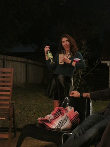 Stephanie brought out ALL the booze!
