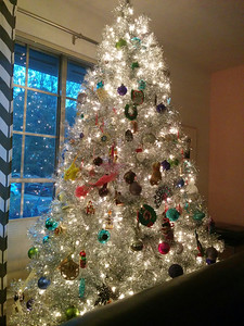 Kids decorated the tree.  I didn't have a nervous breakdown
