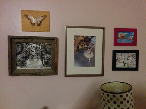 Stella and Etta's new art wall