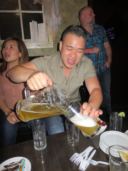 Eric just keeps pouring the beer.  Good man!