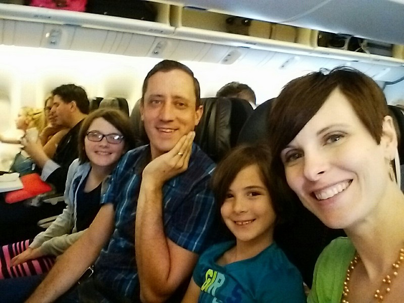 About to take off for our Grand European Adventure!
