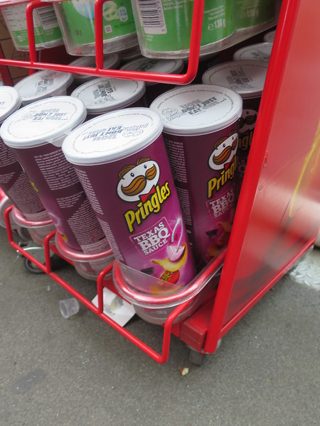 Texas BBQ sauce Pringles (spotted while waiting for the London Eye)