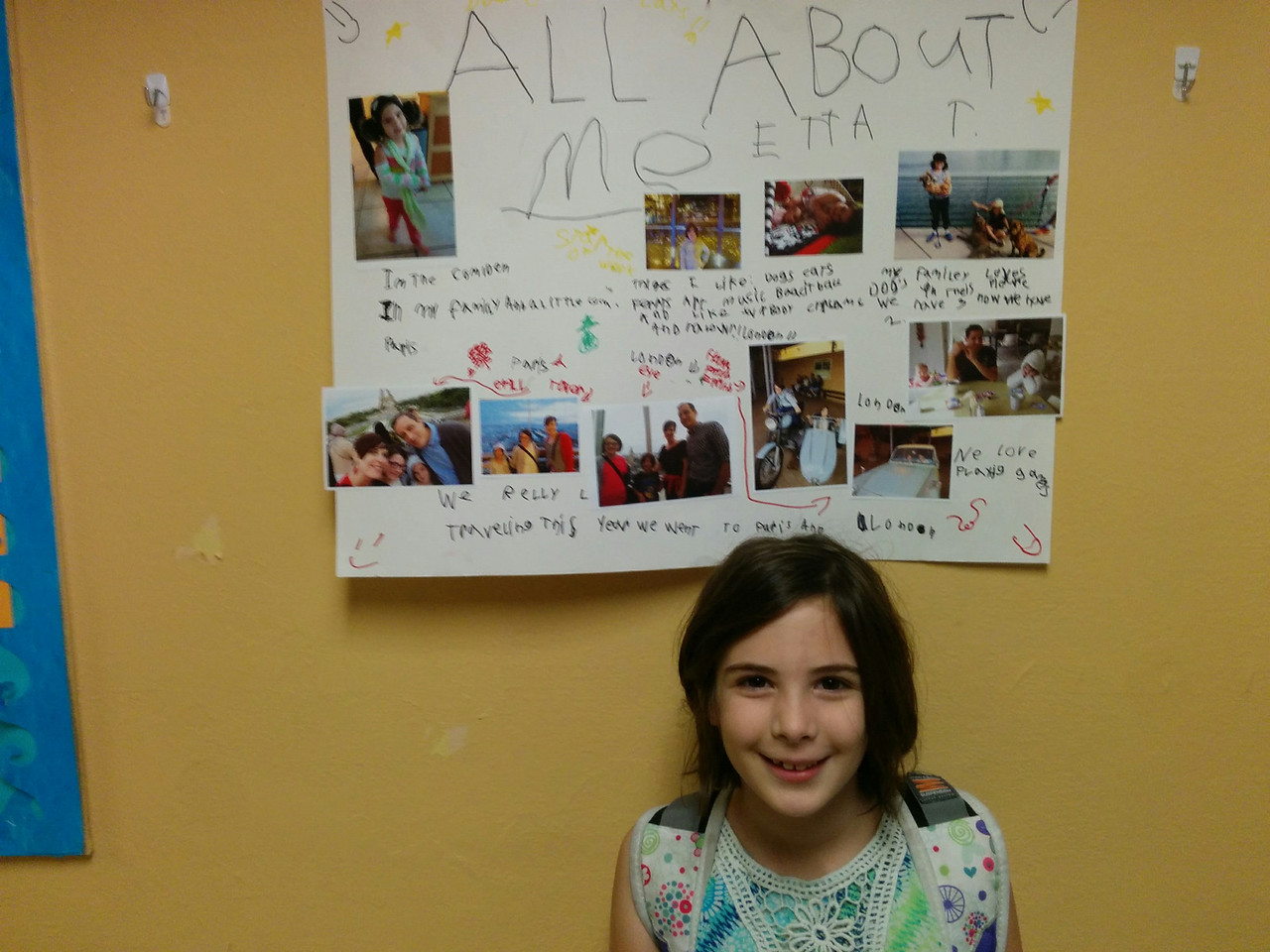 Etta with her Star of the Week poster