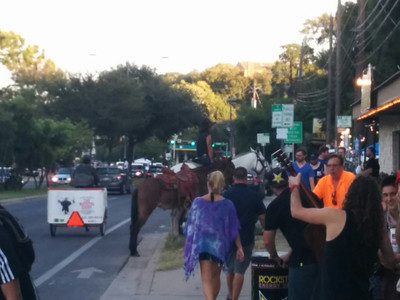 Sometimes you take your horses to ACL