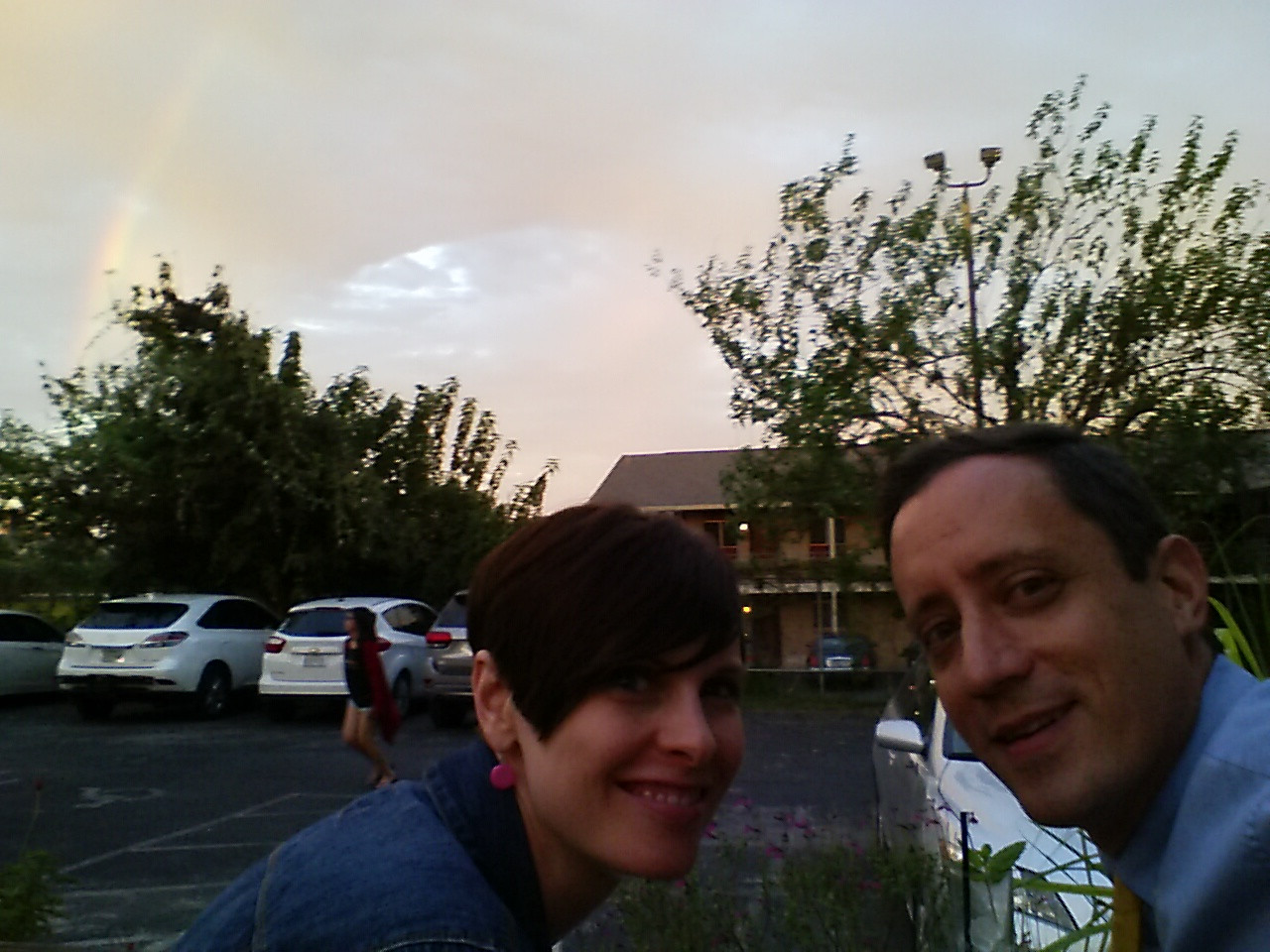 Attempt at Selfie with rainbow