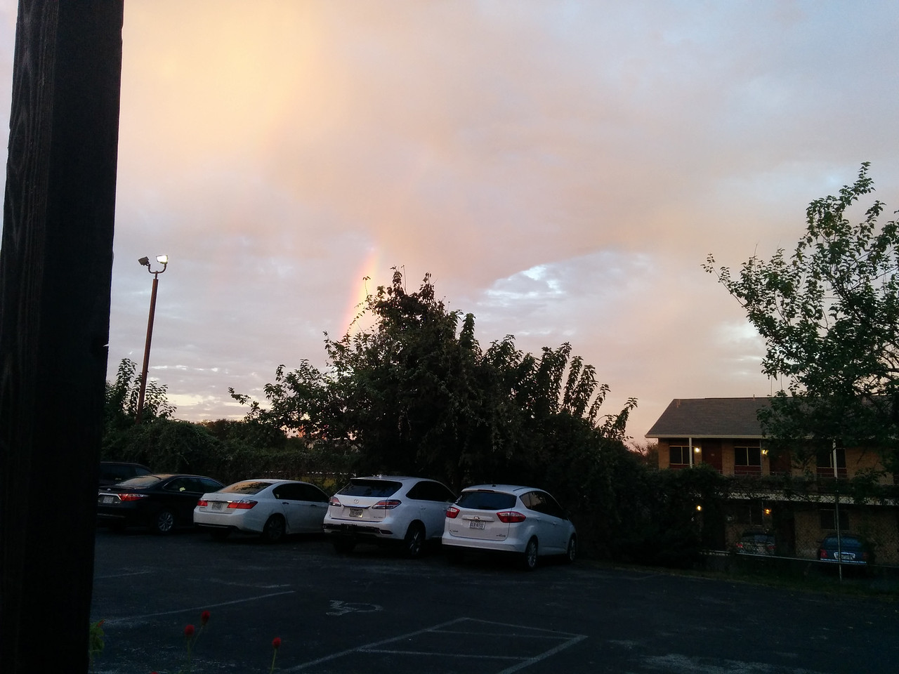 super cool rainbow we spotted while waiting for our table at Contigo