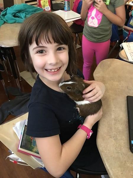 Etta and her class guinea pig, Otis