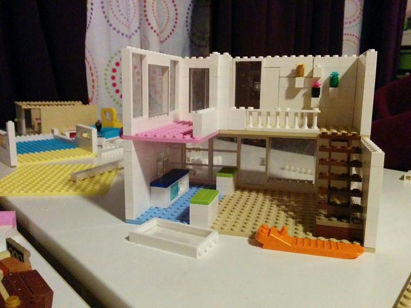 super cool modern lego house created by Stella