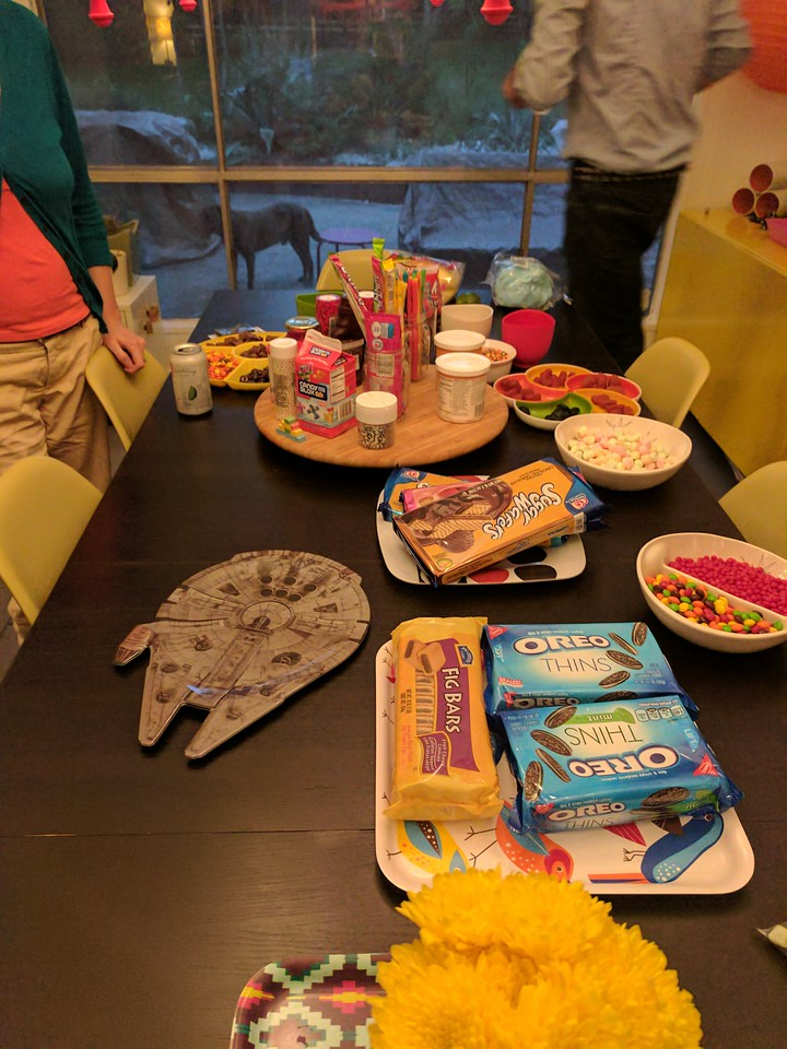 The insane Sundae Spread for my birthday party