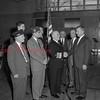 (1960) Admiral Hopwood with members of Post 73 at the Shamokin High School.
