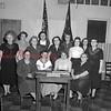 (04.19.1953) Mount Carmel VFW Auxiliary on April 19, 1953. Shown is Bertha Cort, Evelyn Kruskie, Gertrude Namet and Edna Fisher; second row, Clara Washileski, Gertrude Boylan, Pearl Yorkiewicz, Mary Snipkie, Alda Nolan, Anna Homboski, Betty Joseph, Theresa Kerchinsky and Veronica Zegarski.