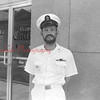 (July 62) Thomashefske, possibly Navy recruiter, in front of Shamokin Citizen office.