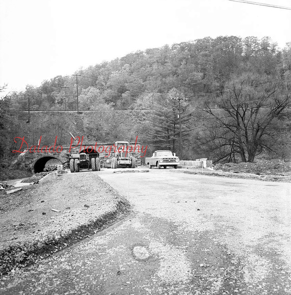 (Nov. 1967) Construction of a new Route 61 at Irish Valley.