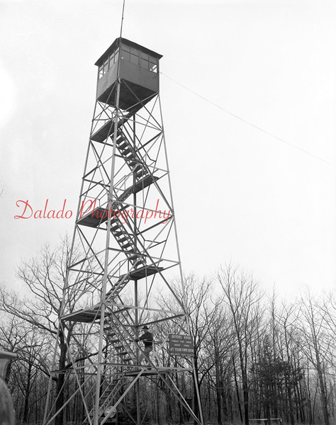 (March 1957) Boyers Knob in Coal Township.