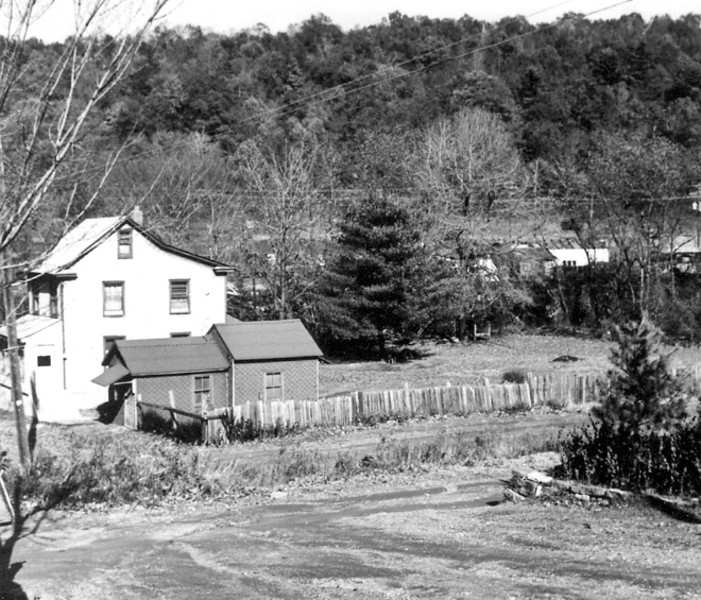 *Low-Res* Boydtown- This home was located on the lower-end of Boydtown, off Maple Avenue. Irichs Cemetery is in the upper-right portion of this photo. This home was demolished in 2012 following a fire in 2010.
