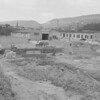 (June 1959) Construction of Crown Lanes in Coal Township. Owned by Dick Ghezzi, it opened on Nov. 28.