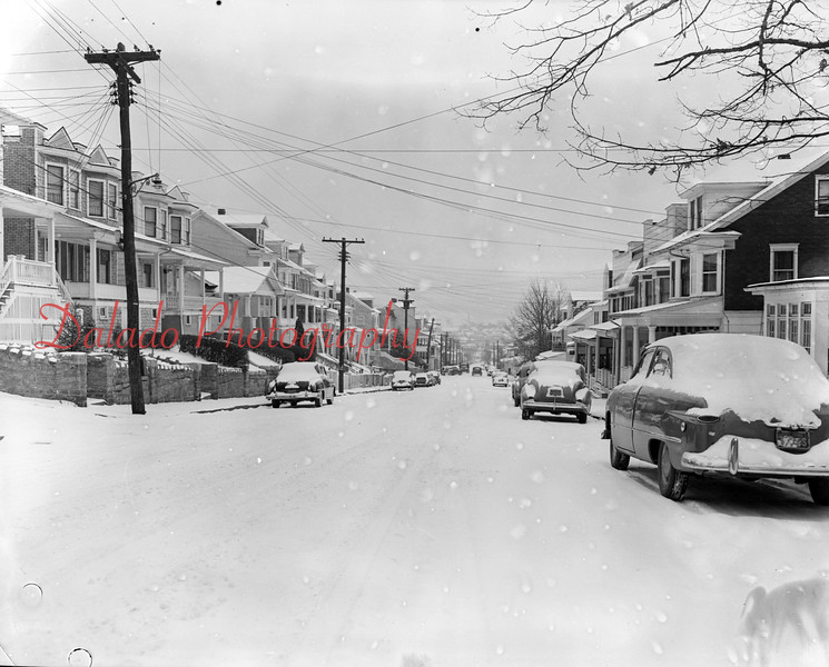 *Low-Res* (Feb. 1951) Walnut Street in the snow.