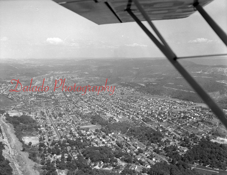 Aerial of Coal Township and Shamokin.
