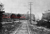 """Lancaster Switch- This is the area of Route 901 and 61 at Ranshaw. The area where the people are standing would eventually be the off-ramp of Route 61. The cut was made wider when the state let Route 61 (Rt. 122) travel over the """"Sow's back"""" instead of through Ranshaw."""