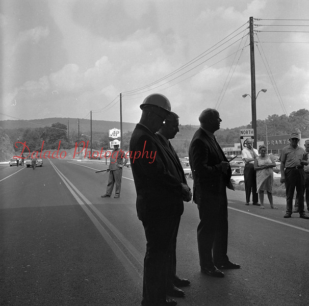 (June 1969) Shown is the dedication of Route 61 at the Route 901 intersection at Ranshaw. The Anthra Plaza is to the right.