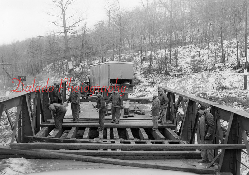 """(1956) Here is the bridge on old Route 901, near Excelsior, that I mentioned. The current highway was built past the poles after a new bridge was constructed. This bridge foundation still exists today, and can be seen here --> <a href=""""http://www.daladophotography.com/Pollution/The-Coal-Hole/3233438_JWbrPX#!i=190749473&k=y7roN"""">http://www.daladophotography.com/Pollution/The-Coal-Hole/3233438_JWbrPX#!i=190749473&k=y7roN</a>"""