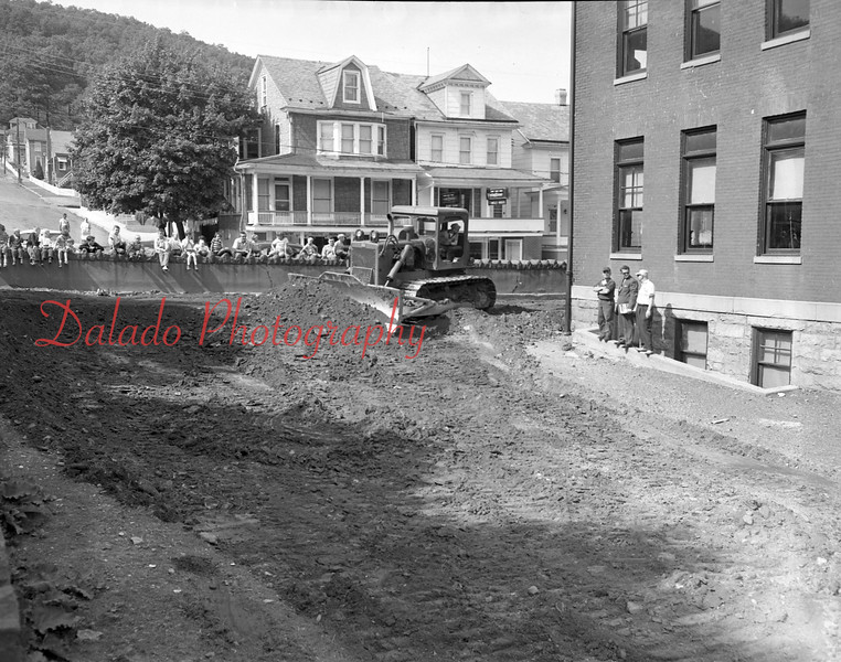 (1959) Construction of McKinley School playground in Coal Township.