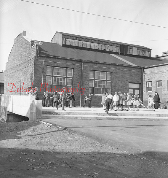 (1957) Completed culvert at St. Anthony's School in Ranshaw.